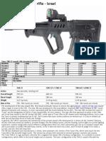 Tavor TAR-21 Assault Rifle - Israel