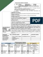 Formato Ast Analisis de Trabajo Seguro