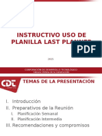 Informe uso de planilla Last Planner Llacolén.ppt