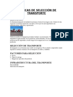 Técnicas de Selección de Transporte