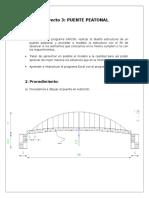 Modelación de Puente Peatonal