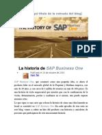 La historia de SAP Business One.docx