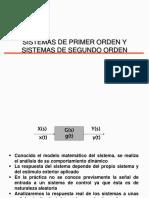 Sistemas de Primer y Segundo Orden