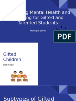 promoting mental health and learning for gifted and talented students  1