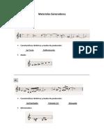 Trio de cuerdas Materiales Generadores