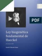 Ley Fundamental Haeckel