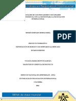 Informe de Analisis de indicadores y estandares proyectados y pertinencia con la Gestion para la Negociacion Internacional