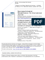 Evidence-based Cognitive Rehabilitation After Acquired