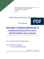 Opciones y Condicionantes de La Supervision Educativa en El Departamento de Olancho (1)