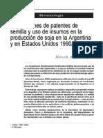 Legislación de Soya Transgenica en Argentina y EEUU