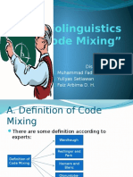 Sociolinguistics COde Mixing