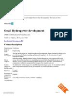 Small Hydropower Development