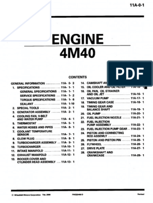 4M40 | Cylinder (Engine) | Screw