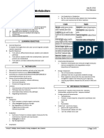 Biochem 2.1 Introduction to Metabolism
