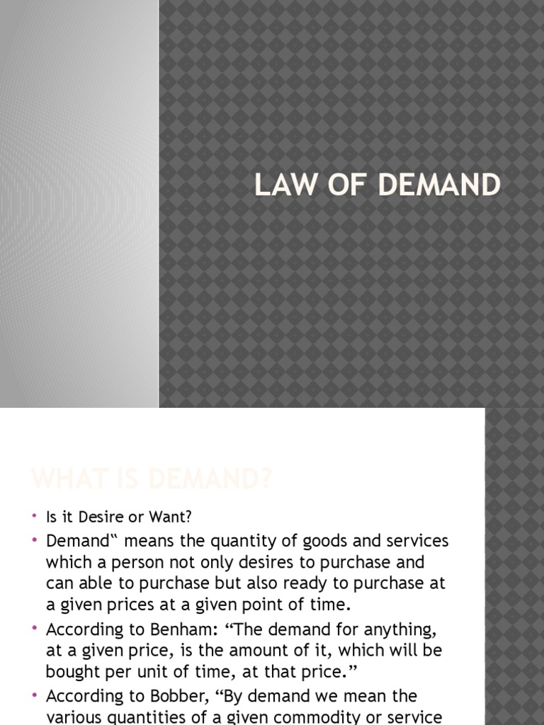 LAW OF DEMAND 1 | Dema...