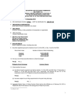 Disclosure No. 478 2015 Annual Report for Fiscal Year Ended December 31 2014 SEC FORM 17 A