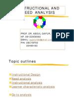 I. Analisis Instruksional