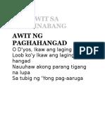 Mga Awit Sa Pakikinabang