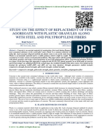 STUDY ON THE EFFECT OF REPLACEMENT OF FINE AGGREGATE WITH PLASTIC GRANULES ALONG WITH STEEL AND POLYPROPYLENE FIBERS