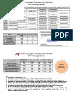 2015 Training Schedule India