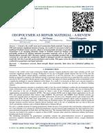 GEOPOLYMER AS REPAIR MATERIAL - A REVIEW