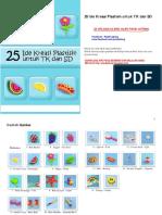 [Adm-paudi-tk-ra] 25 Ide Kreasi Plastisin Play Doh Untuk Paud Tk Kb Tpa Sps(1)