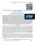 Optimal Capacitor Placement for IEEE 14 bus system using Genetic Algorithm