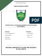 Seminar Paper Synopsis