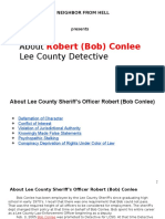 Poisoned by my neighbor from Hell-About Lee County Detective Robert (Bob) Conlee