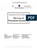 Timor Leste Law of Petroleum Extraction