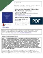 Advertising Social Media