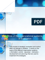 Organisational Systems in Evaluation