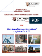 Xian New Channel International Logistics Co. LTD-INTRODUCTION OF  M/s S.M.ASGHAR (Pvt) LIMITED  FOR CUSTOM CLEARANCE-SHIPPING & LOGISTICS SOLUTION
