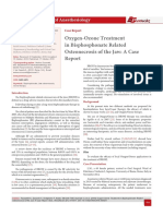 Oxygen-Ozone Treatment in Bisphosphonate Related Osteonecrosis of the Jaw