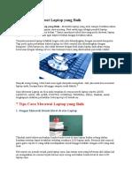 Tips Cara Merawat Laptop Yang Baik