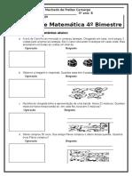 Prova de Matemática 3º Ano 4º Bimestre