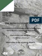 2016-10-19 Cartel Aportaciones a Arqueología Desde Espeleología