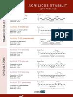 Acrilicos Stabilit - Lamina Acrylit G10 Stabilit - Lamina Traslucida para Techos
