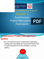 Lecture 3-Construction Project Management Framework