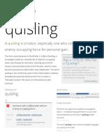 Quisling - Dictionary Definition _ Vocabulary
