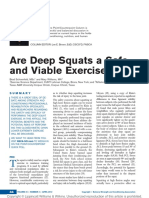 Are Deep Squats a Safe and Viable Exercise