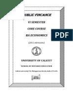 BA Eonomics I Em Ublic Finance