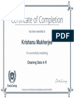CleaningDataInR Certificate