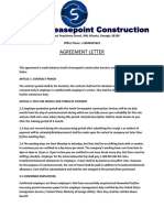 South Greasepoint Agreement Letter