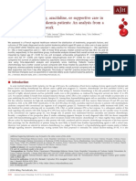 Intensive chemotherapy, azacitidine, or supportive care in older acute myeloid leukemia patients