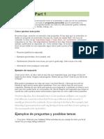 Consejos Speaking FCE