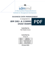IBM DB2 - Commercially availble RDBMS