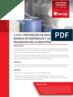 Curso Prevención de Riesgos en Manejo de Materiales y Sustancias Peligrosas en La Industria (1)