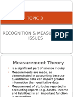 Topic 3 Recognition Measurement Issues the Latest Version