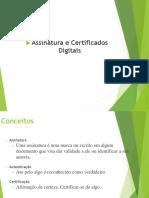 Assinatura e Certificados Digitais